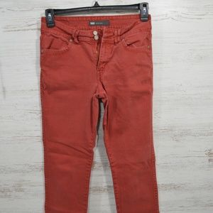 Levis Rust Red Mid Rise Skinny Women's Jeans 8M